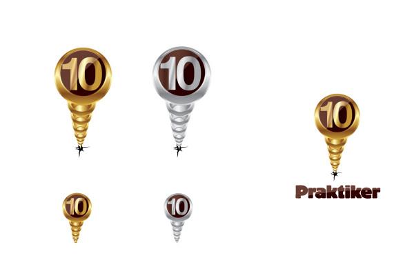 Praktiker 10 years logo